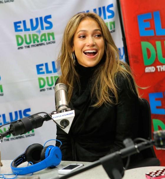Jennifer Lopez at Z100 Studio -11