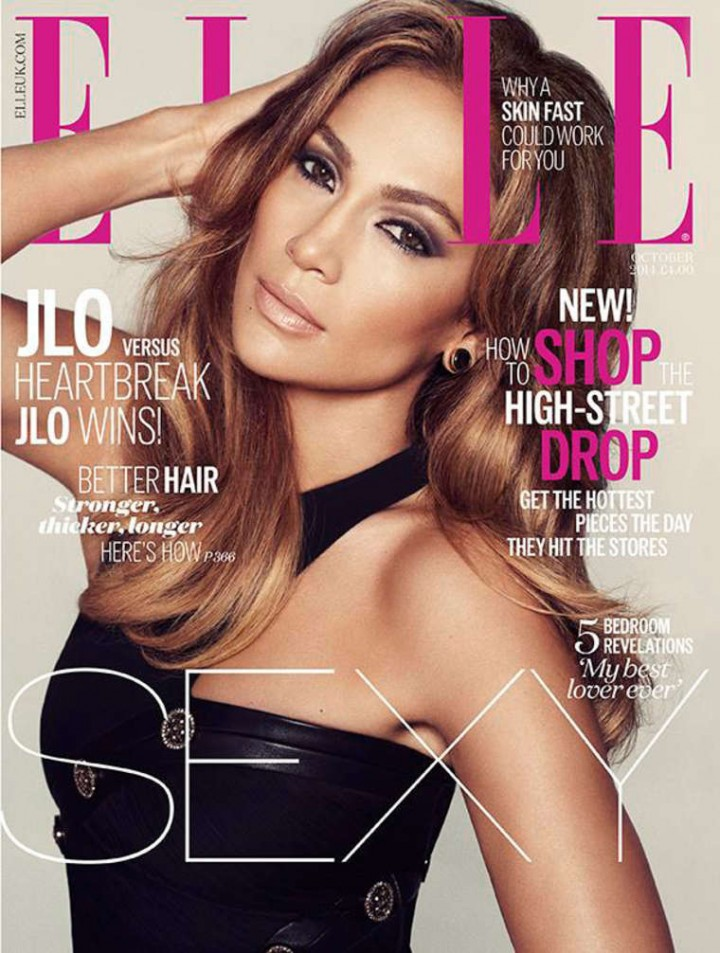 Jennifer Lopez - ELLE UK Magazine Cover (October 2014)