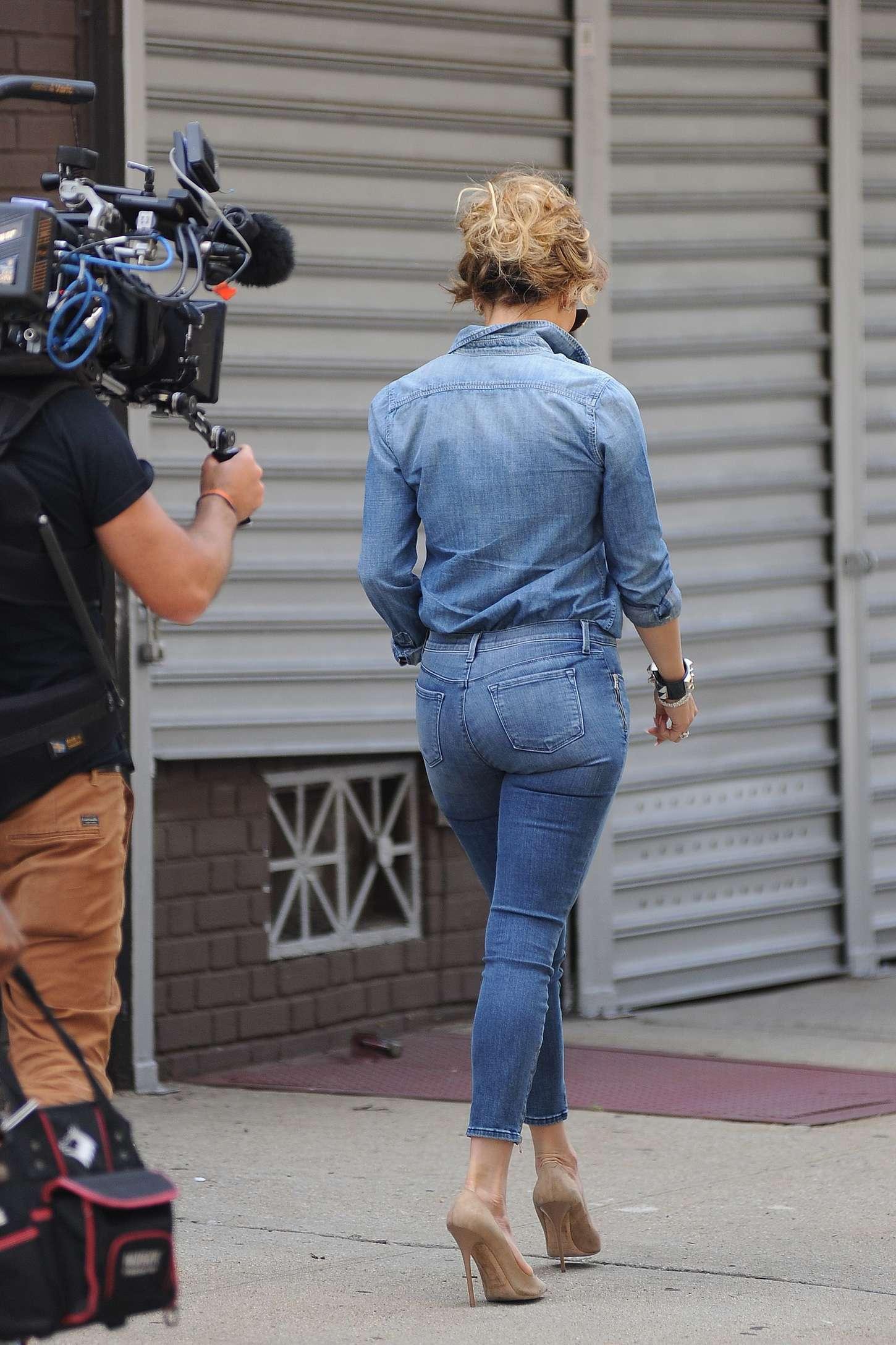 Culo de teen jeans blancos - 2 7
