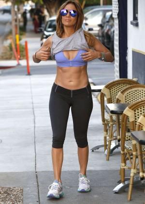 Jennifer Lopez in Leggings and Sports Bra -05
