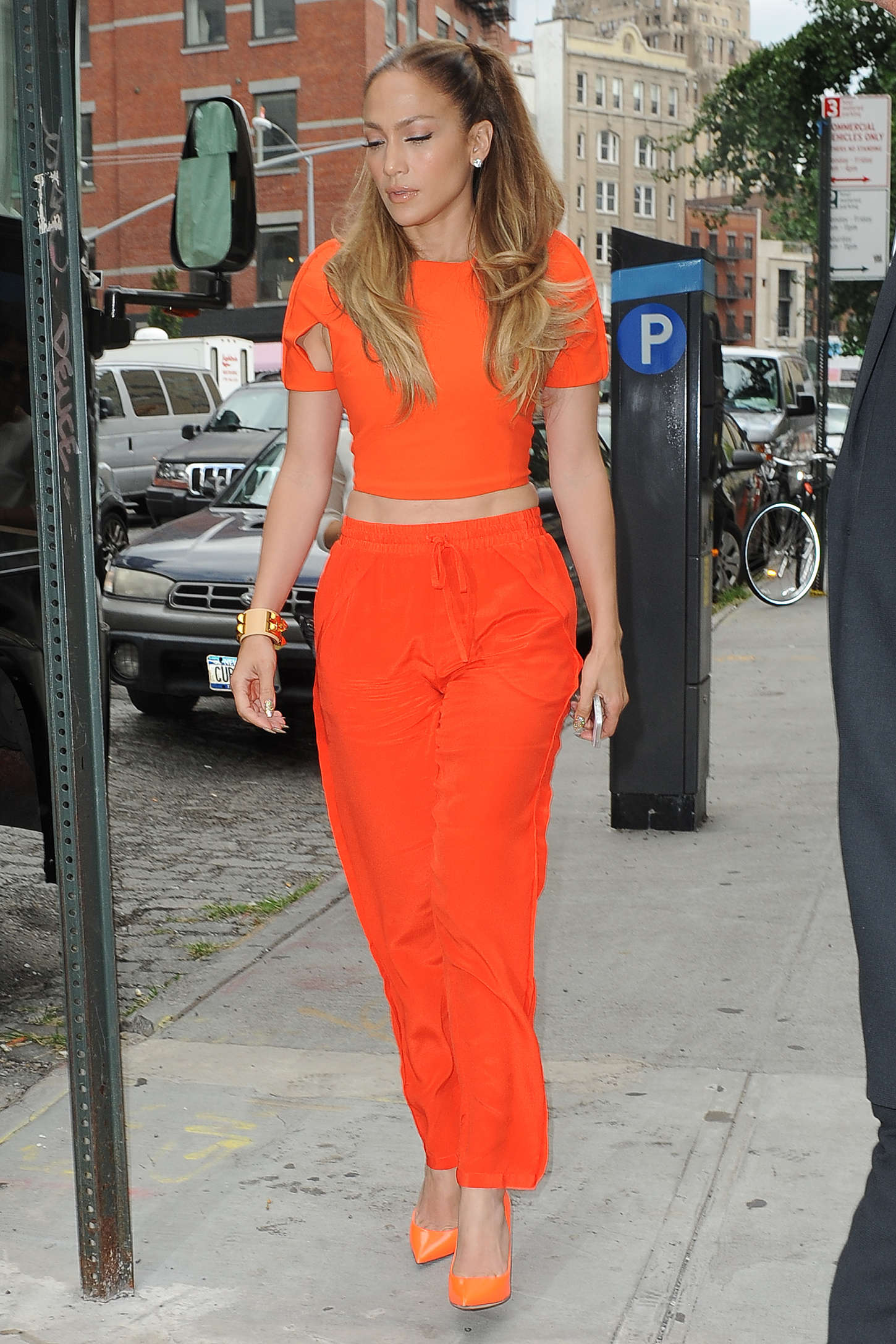 Jennifer Lopez in Red out in NYC