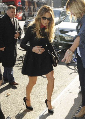 Jennifer Lopez in Short Coat -03