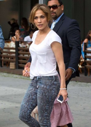 Jennifer Lopez - Leaving her hotel in NYC -02