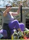 Jennifer Love Hewitt - doing yoga in Santa Monica -06