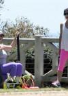 Jennifer Love Hewitt - doing yoga in Santa Monica -17