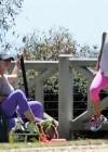 Jennifer Love Hewitt - doing yoga in Santa Monica -20