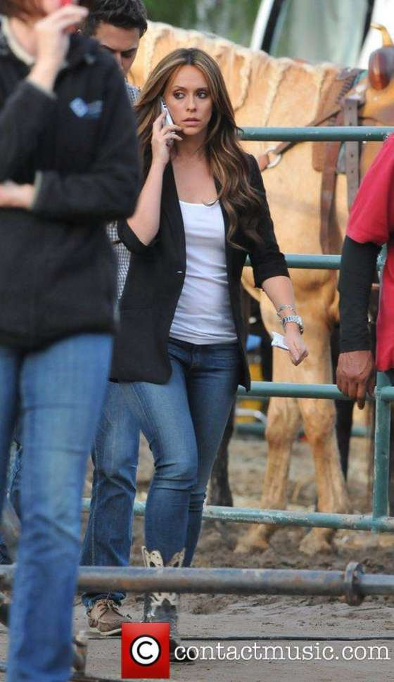 Jennifer Love Hewitt - On the set of The Client List in Sunland
