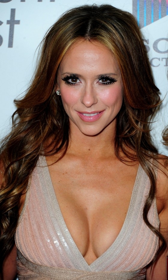 Jennifer Love Hewitt  are tight and sexy in a very revealing Herve Leger body con dress