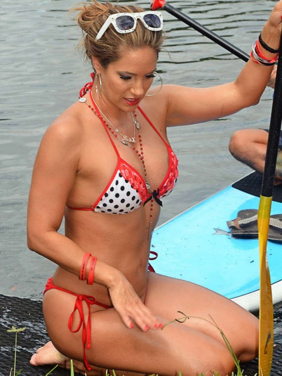 Jennifer Nicole Lee: Paddleboarding in Bikini -09