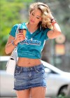 Jennifer Nicole Lee - short skirt candids - Miami Beach