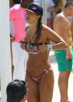 Jennifer Nicole Lee - Wearing a Bikini on a Photoshoot in Miami