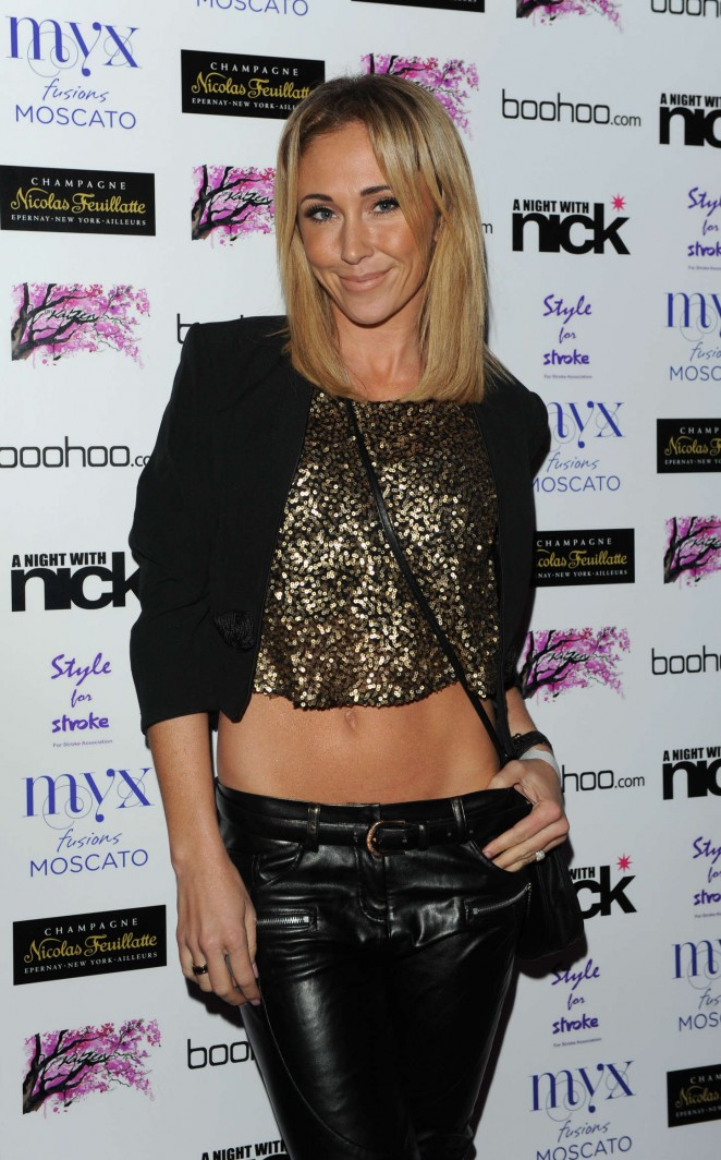 "Jenny Frost at ""A Night With Nick"" in London"