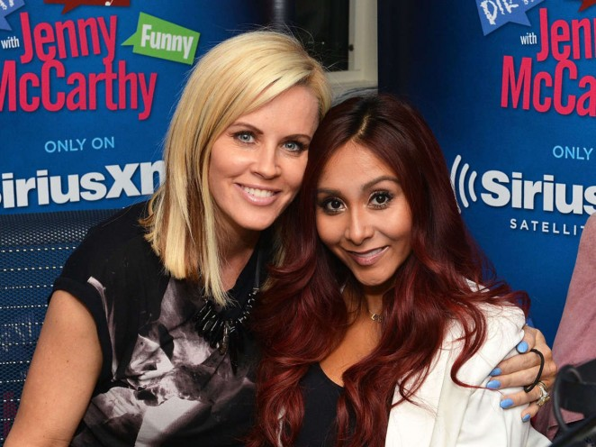 "Jenny McCarthy and Snooki on ""Dirty, Sexy, Funny With Jenny McCarthy"" at SiriusXM Studios in New York City"