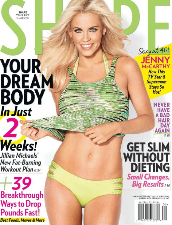 Jenny McCarthy Looking Hot in Shape magazine (January February 2013)