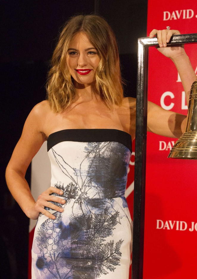 Jesinta Campbell - Rings Bell at David Jones Boxing Day Clearance Sale in Sydney