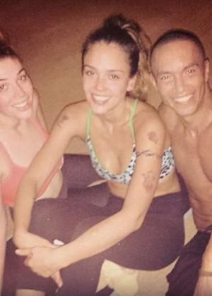 Jessica Alba at Yoga Class - Instagram