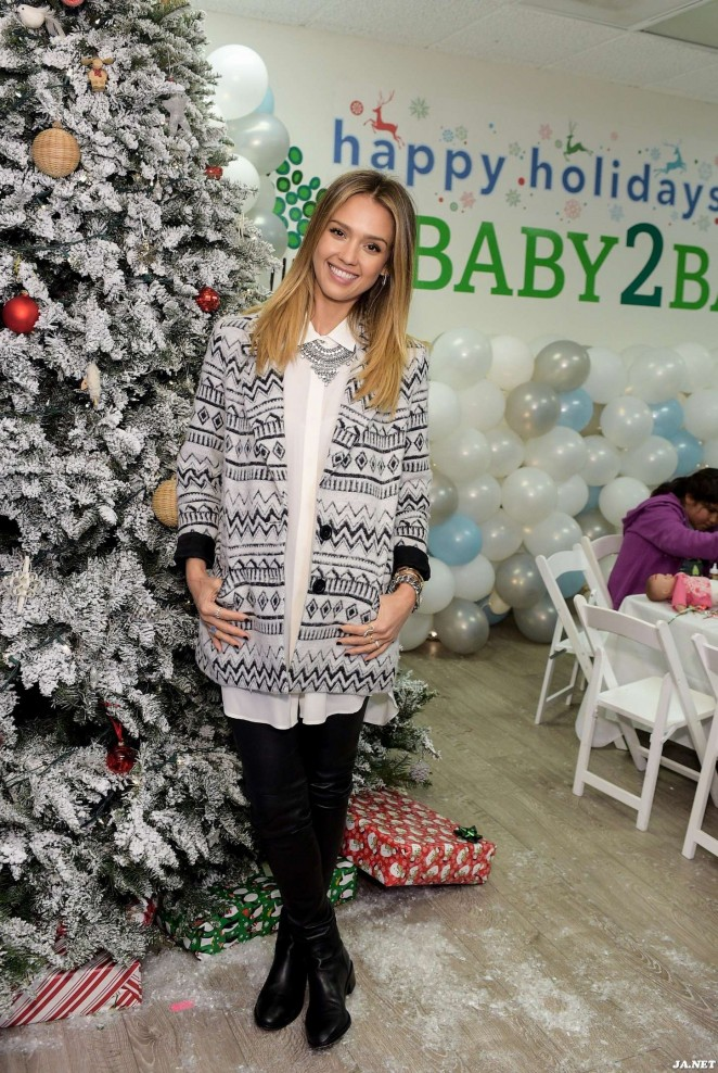 Jessica Alba - Baby2Baby Holiday Party in Los Angeles