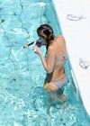 Jessica Alba - Bikini at the pool-14