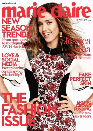 Jessica Alba - photoshoot for Marie Claire (UK) Magazine by David Roemer - September 2014