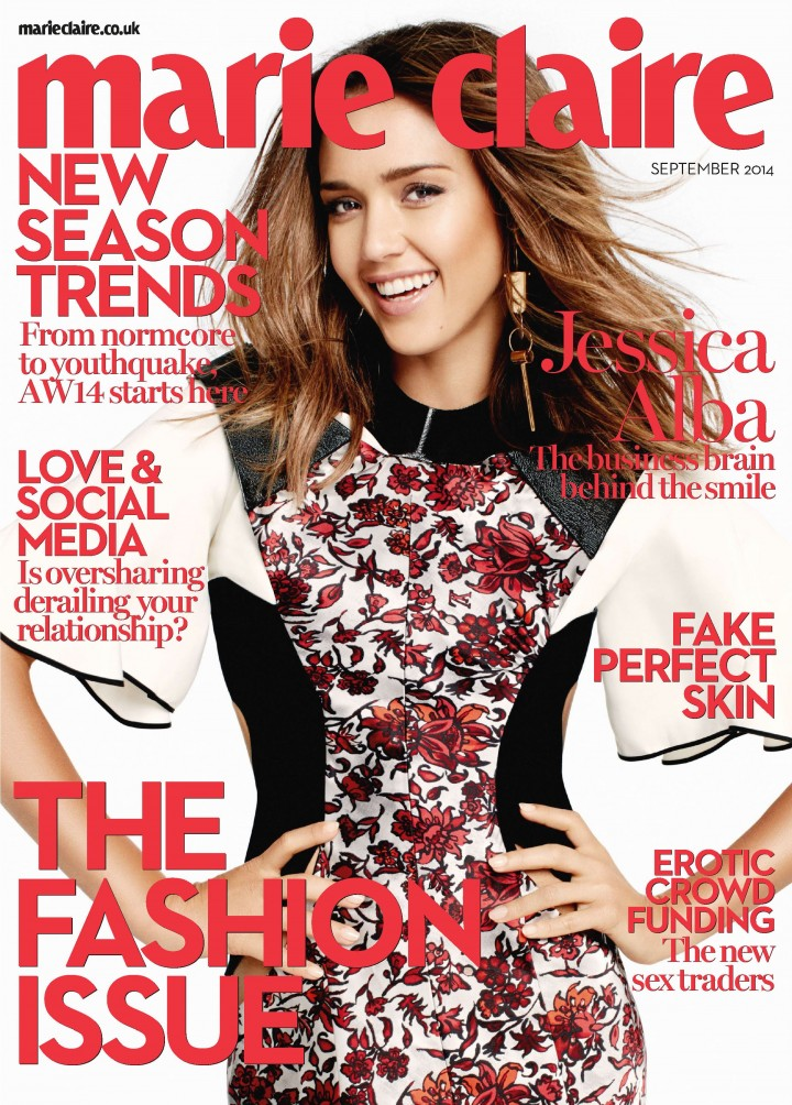 Jessica Alba – David Roemer photoshoot for Marie Claire (UK) Magazine – September 2014