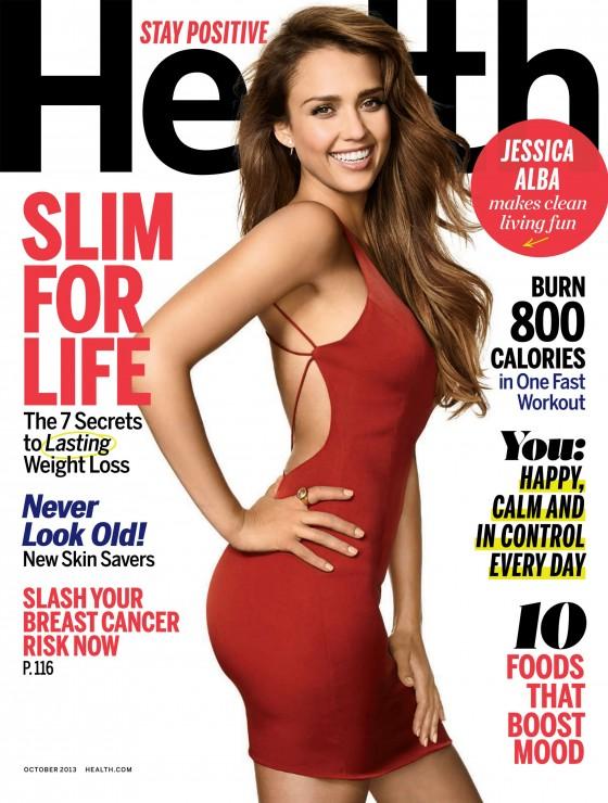 Jessica Alba - Health Magazine (October 2013) -02
