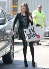 Jessica Alba sexy in mini leather black skirt  in Santa Monica-03