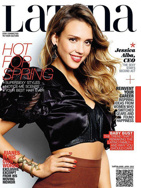 Jessica Alba – Latina Magazine – April 2013 -01