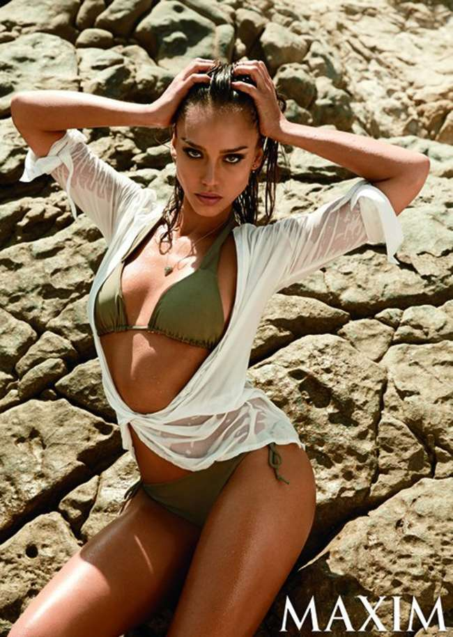 Jessica Alba in Bikini for Maxim Magazine (September 2014)