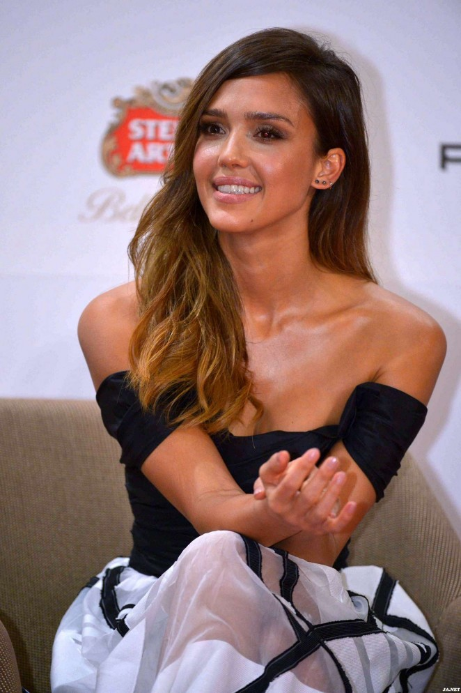 Jessica Alba - Mission Hills World Celebrity Pro-Am Press Conference in Haikou