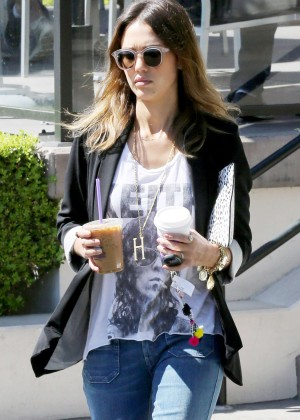 Jessica Alba Wear Hippie Outfit out in Beverly Hills