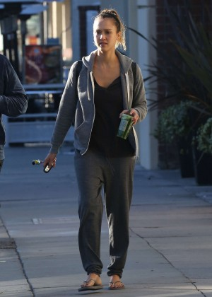 Jessica Alba in Sweats Out and about in LA