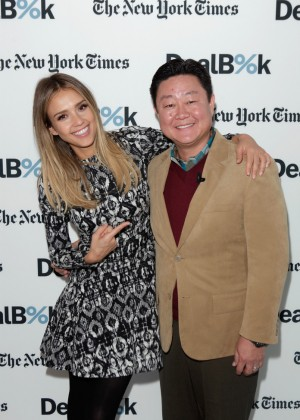 Jessica Alba - The New York Times DealBook Conference in NYC