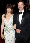 Jessica Biel In a white dress at 2012 Costume Institute Gala in New York City