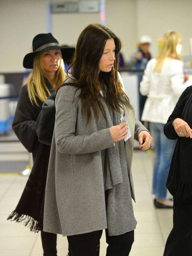 Jessica Biel at LAX Airport in Los Angeles