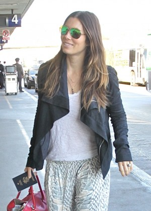 Jessica Biel at LAX Airport in Los Angeles