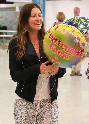 Jessica Biel at Airport in Sydney