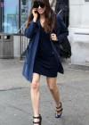 Jessica Biel Wearing short dress and sunglasess in NYC