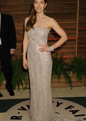 Jessica Biel: Oscar 2014 - Vanity Fair Party -08