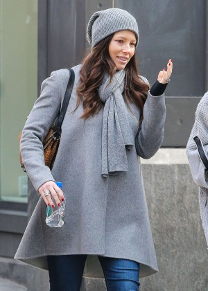 Jessica Biel in Jeans Out shopping in New York