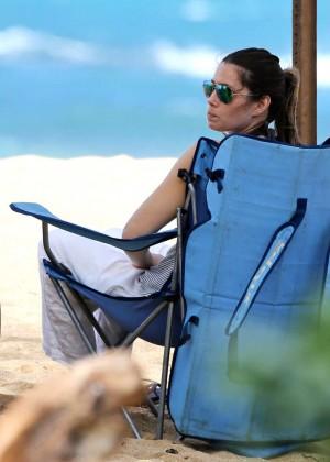 Jessica Biel in Black Bikini in Maui -14