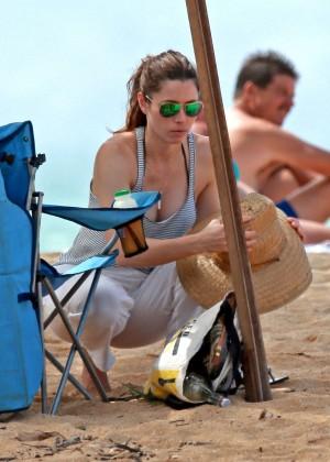 Jessica Biel in Black Bikini in Maui -18