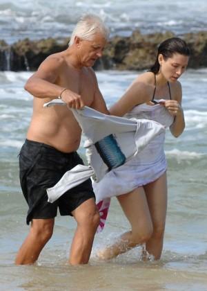 Jessica Biel in Black Bikini in Maui -21
