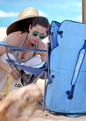 Jessica Biel in Black Bikini in Maui -22