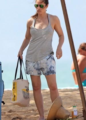 Jessica Biel in Black Bikini in Maui -44
