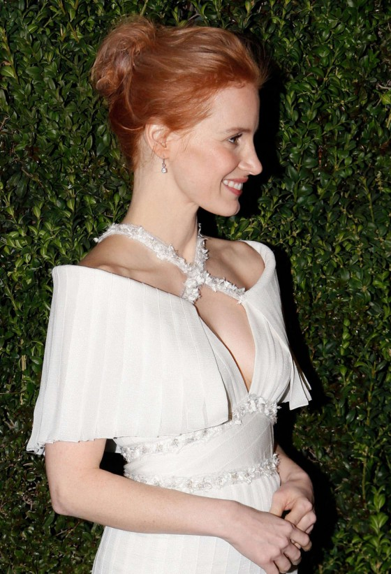 Jessica Chastain – 2013 Chanel Pre Oscar Dinner in Los Angeles -04