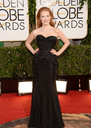Jessica Chastain: Golden Globe 2014 Awards -11