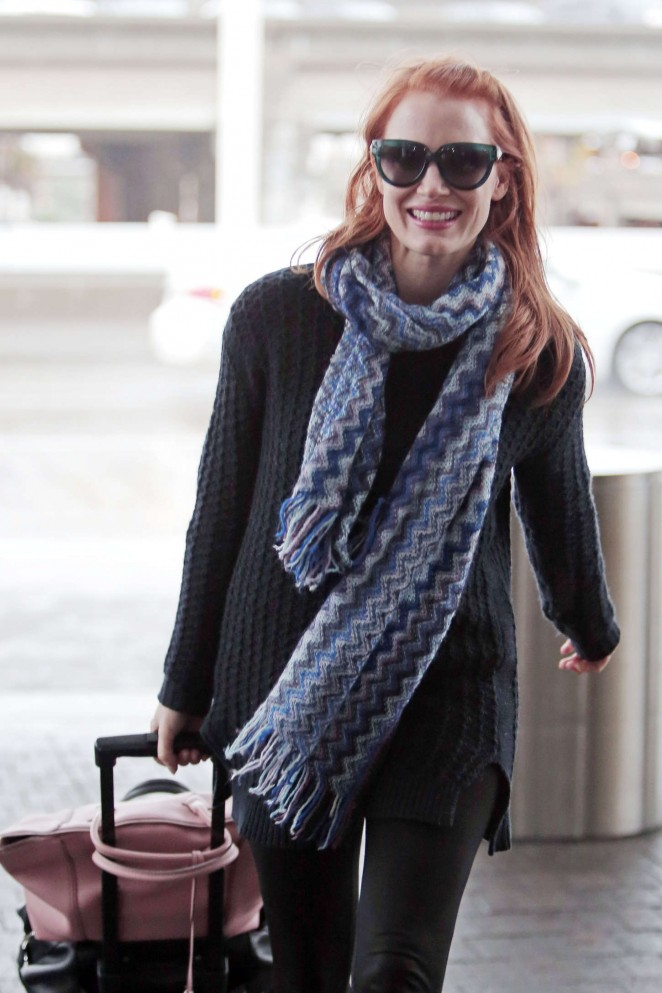 Jessica Chastain at LAX Airport in Los Angeles