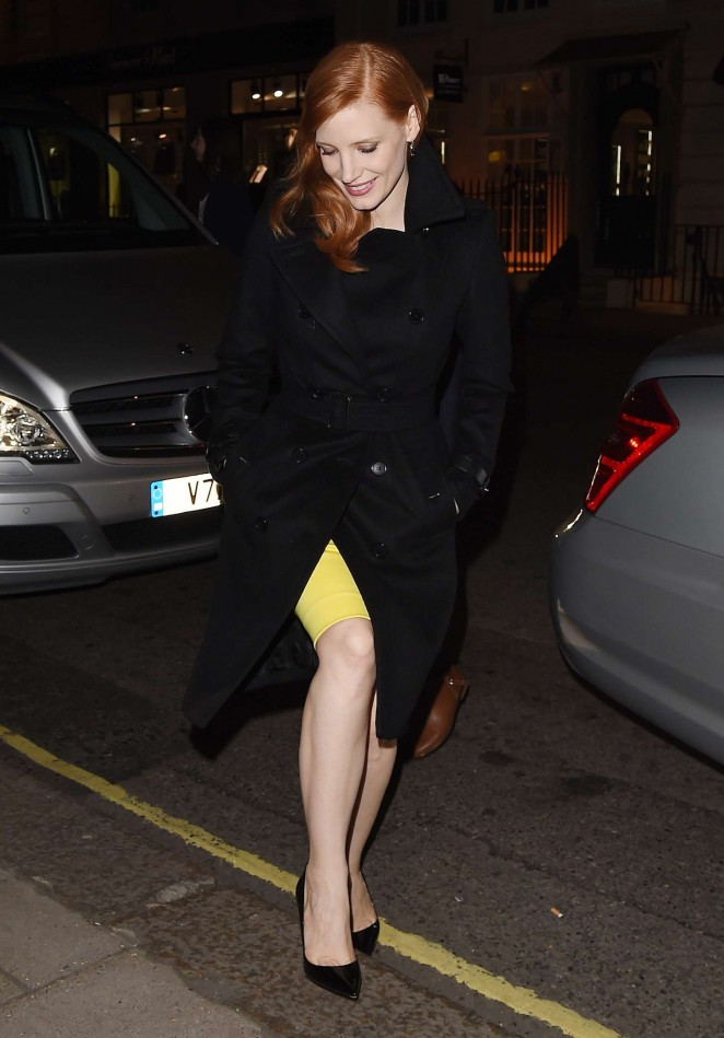 Jessica Chastain – Arriving at her hotel in London