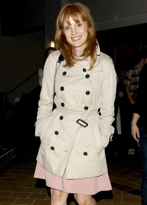 Jessica Chastain - Arriving at Sunset 5 Cinemas in West Hollywood