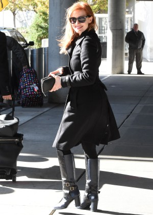 Jessica Chastain at JFK Airport in NYC